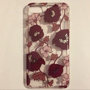 kate spade burgundy flower cover iPhone 6+, 7+, 8+